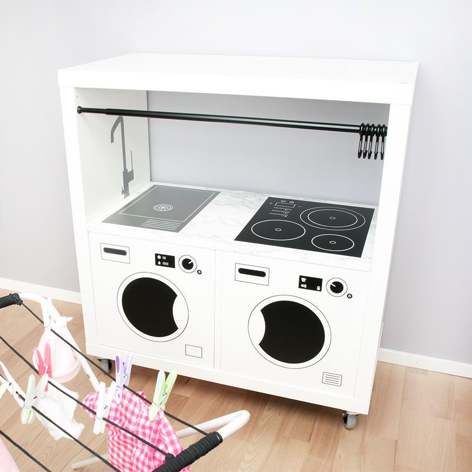 IKEA KALLAX Hacks kids kitchen station