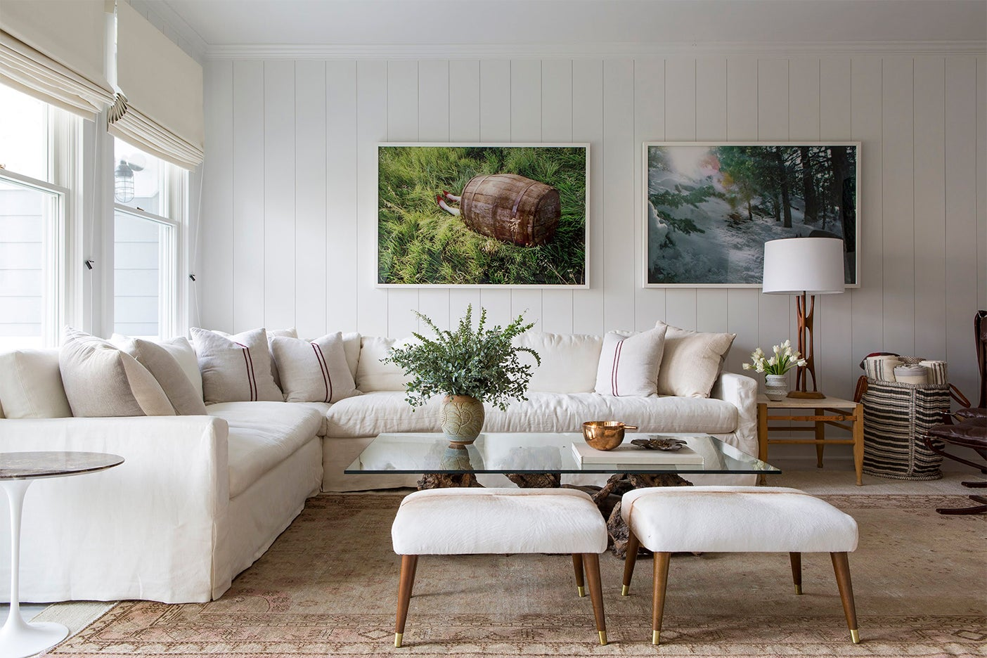 Large sectional sofa in a living room