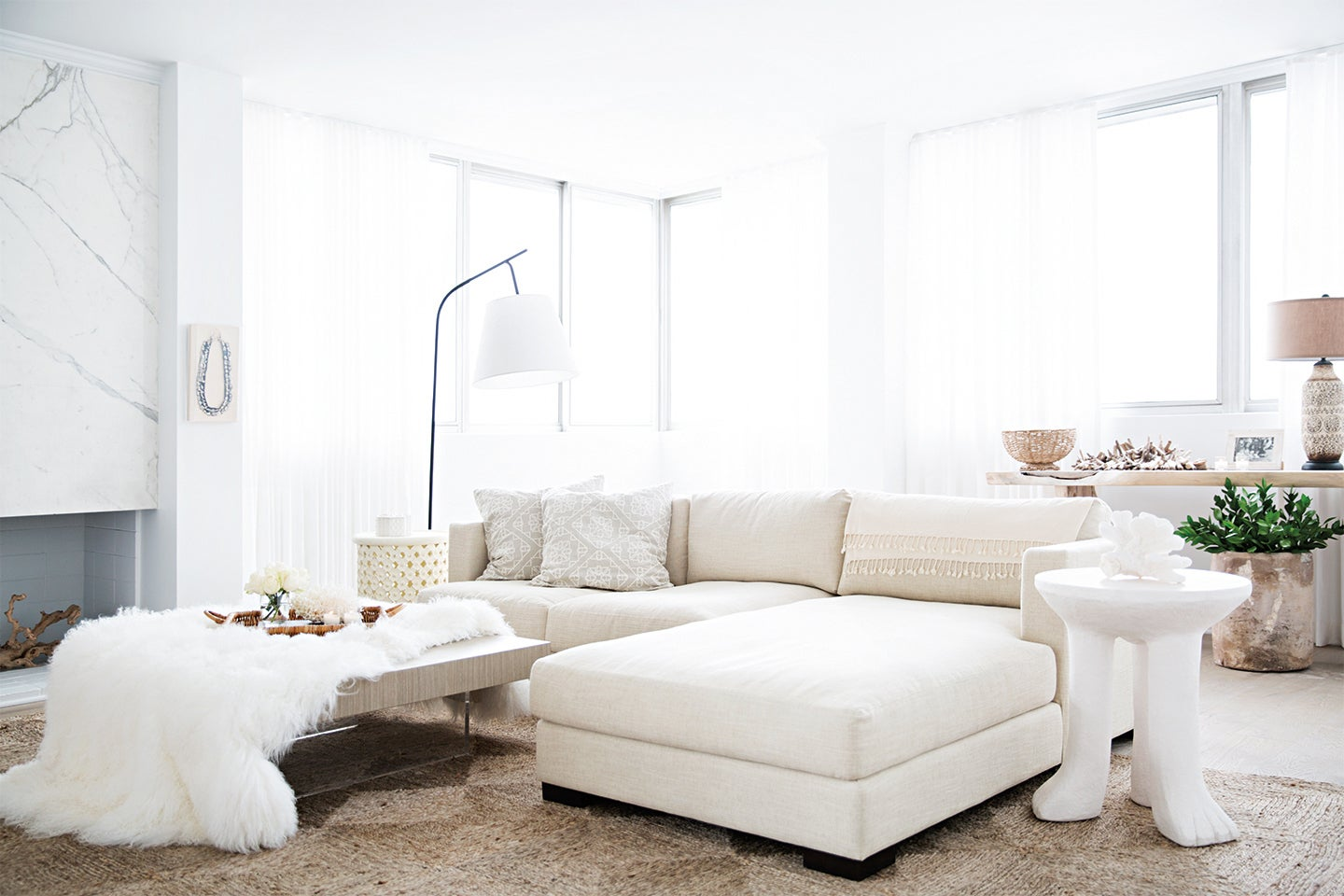 Medium size sectional in a living room