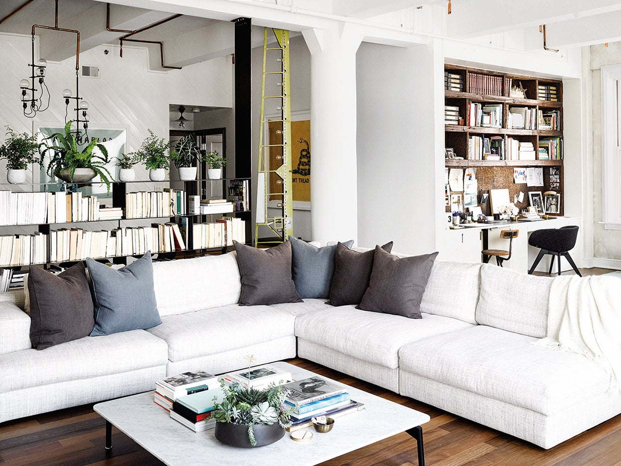 Extra large sectional in a living room