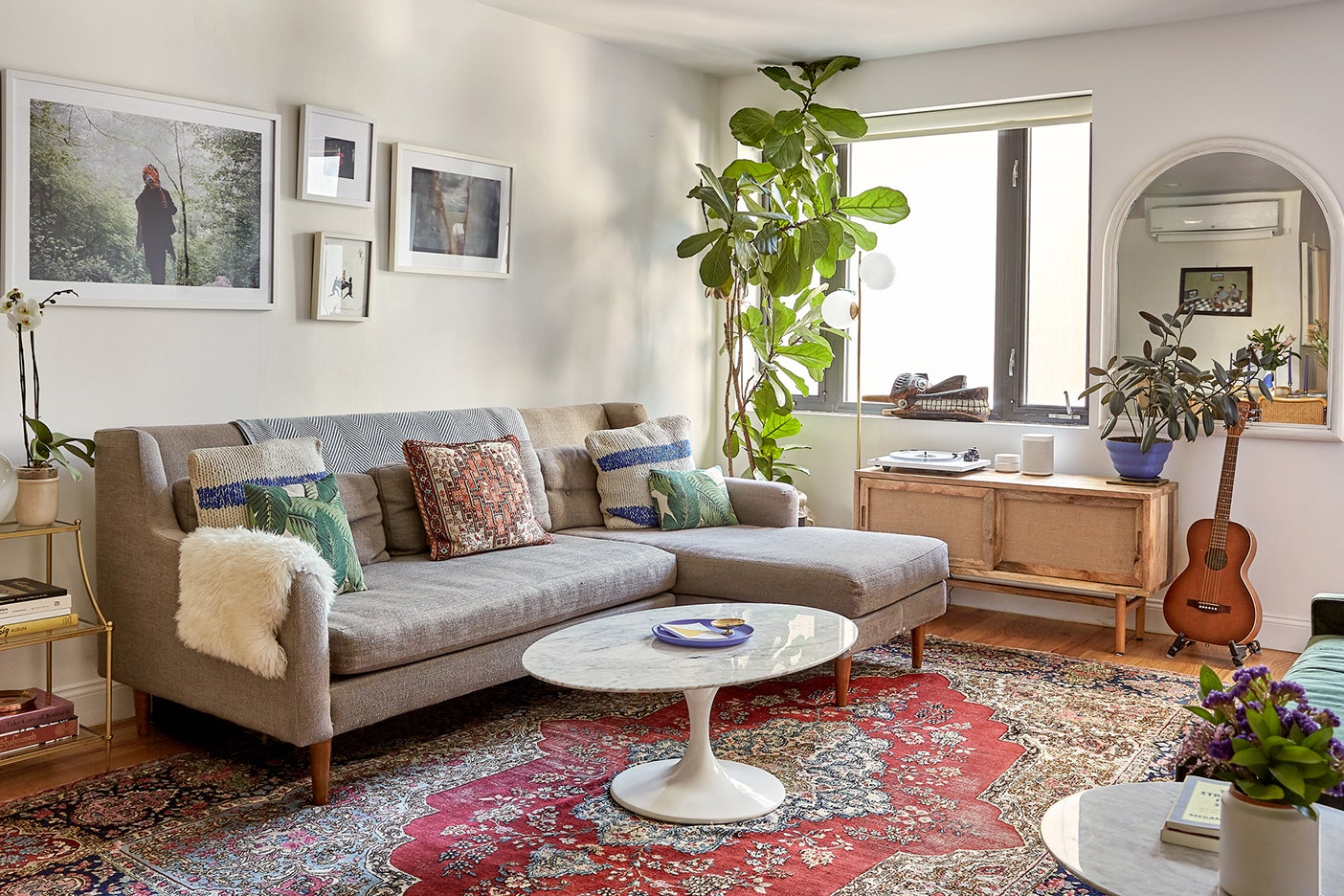 Small living room with a sectional sofa
