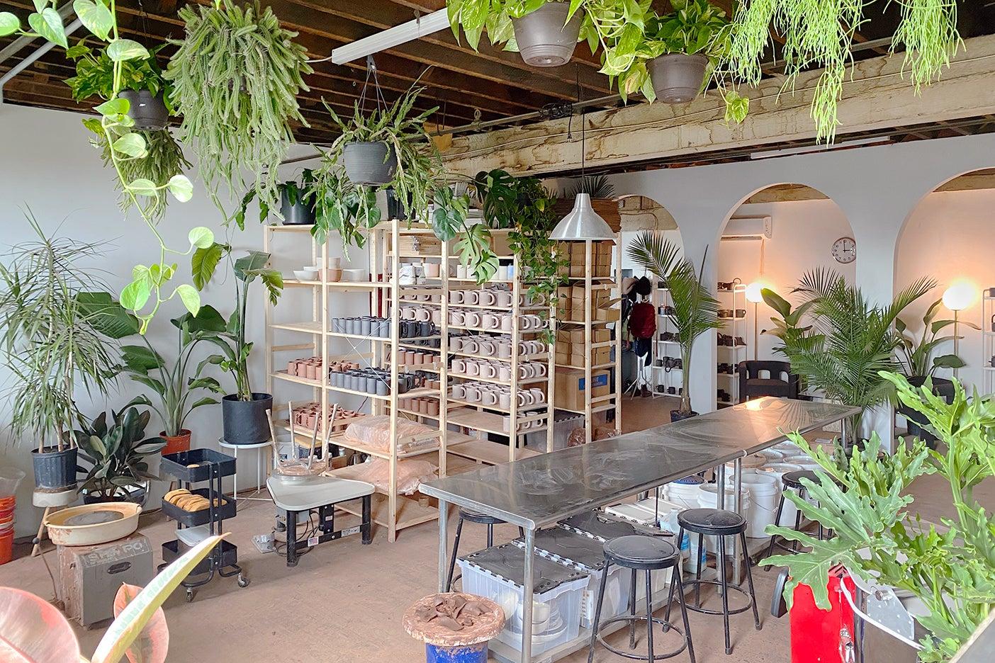 a ceramist's showroom