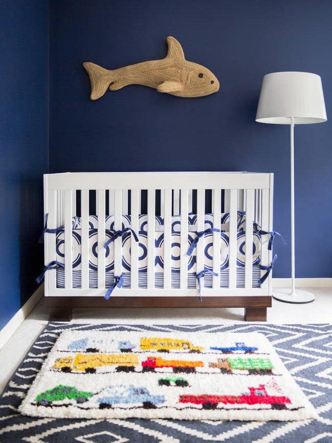 a blue nursery