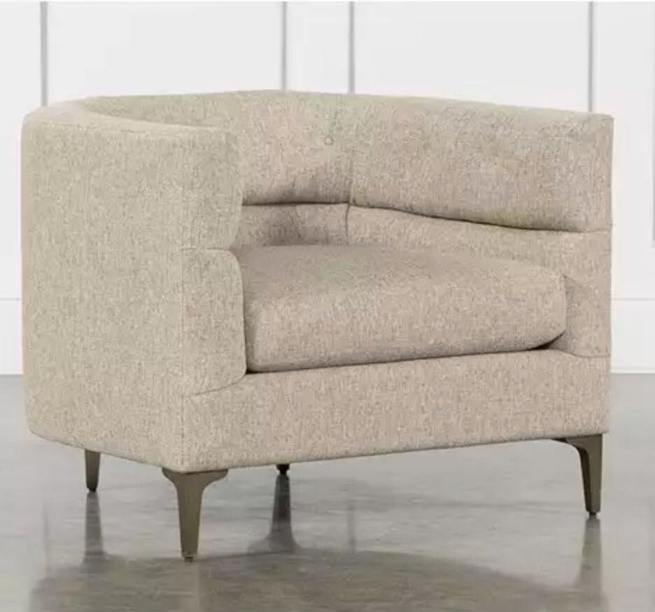a modern armchair