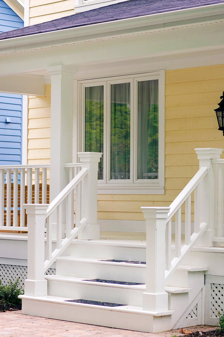 a front porch of a house