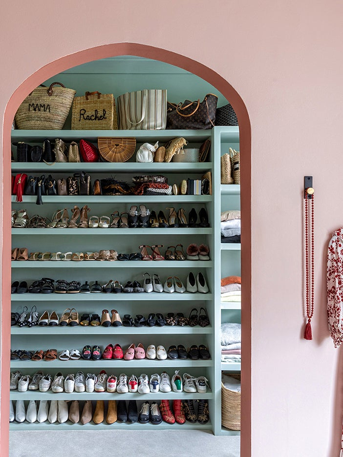Refashioned Pipes Keep This London It Girl's Candy Land Closet Organized