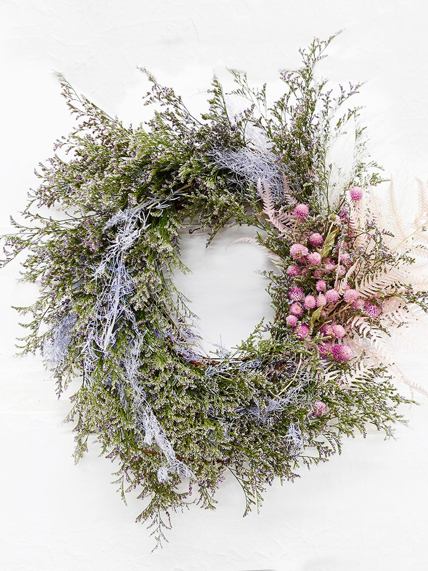 pink and puple wreath