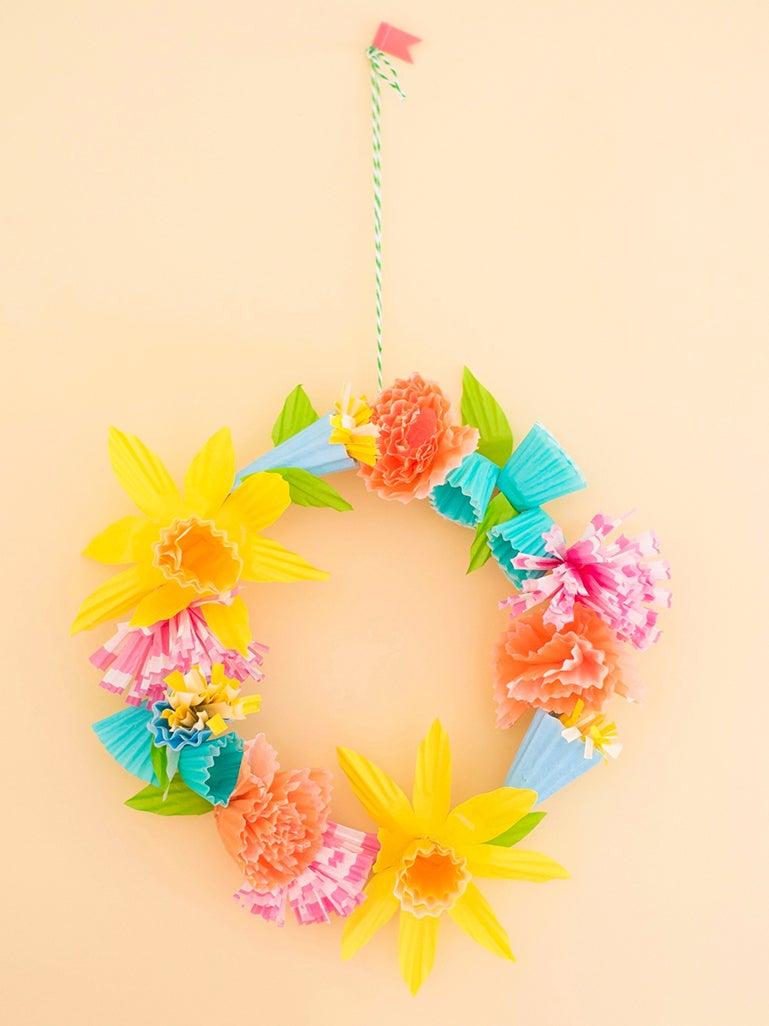 colorful faux wreath