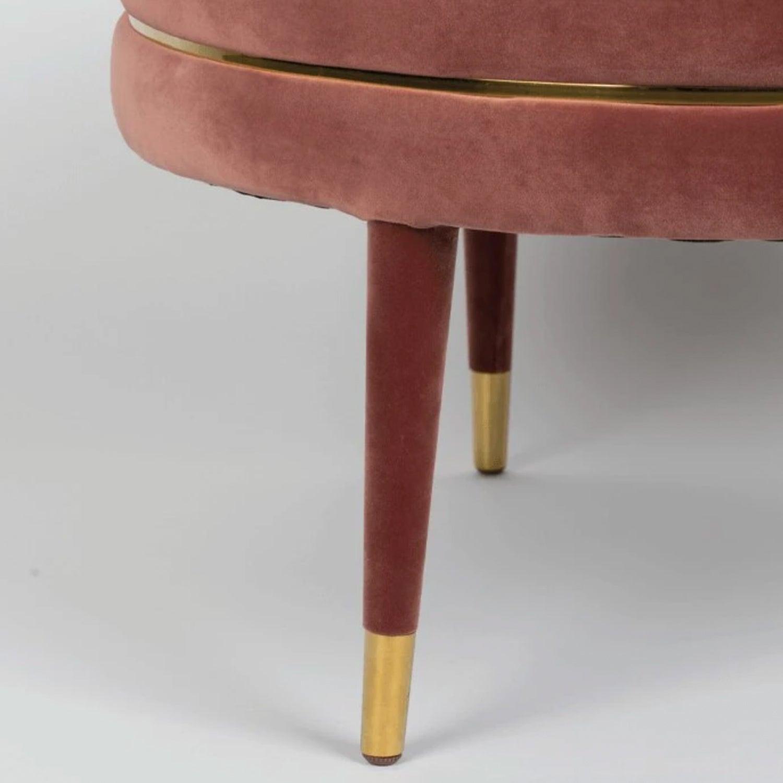 blush velvet ottoman