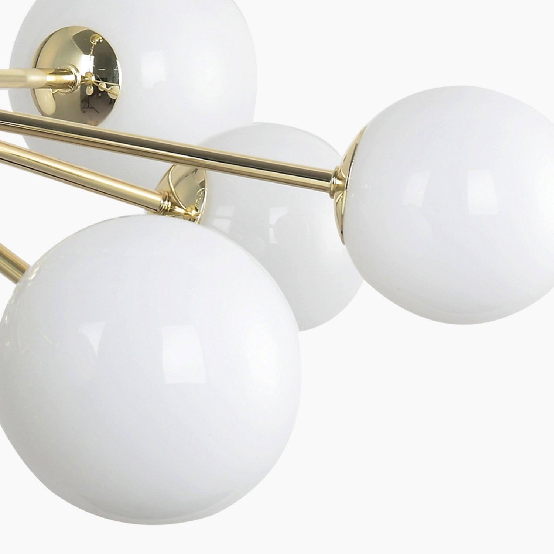 white globe chandelier