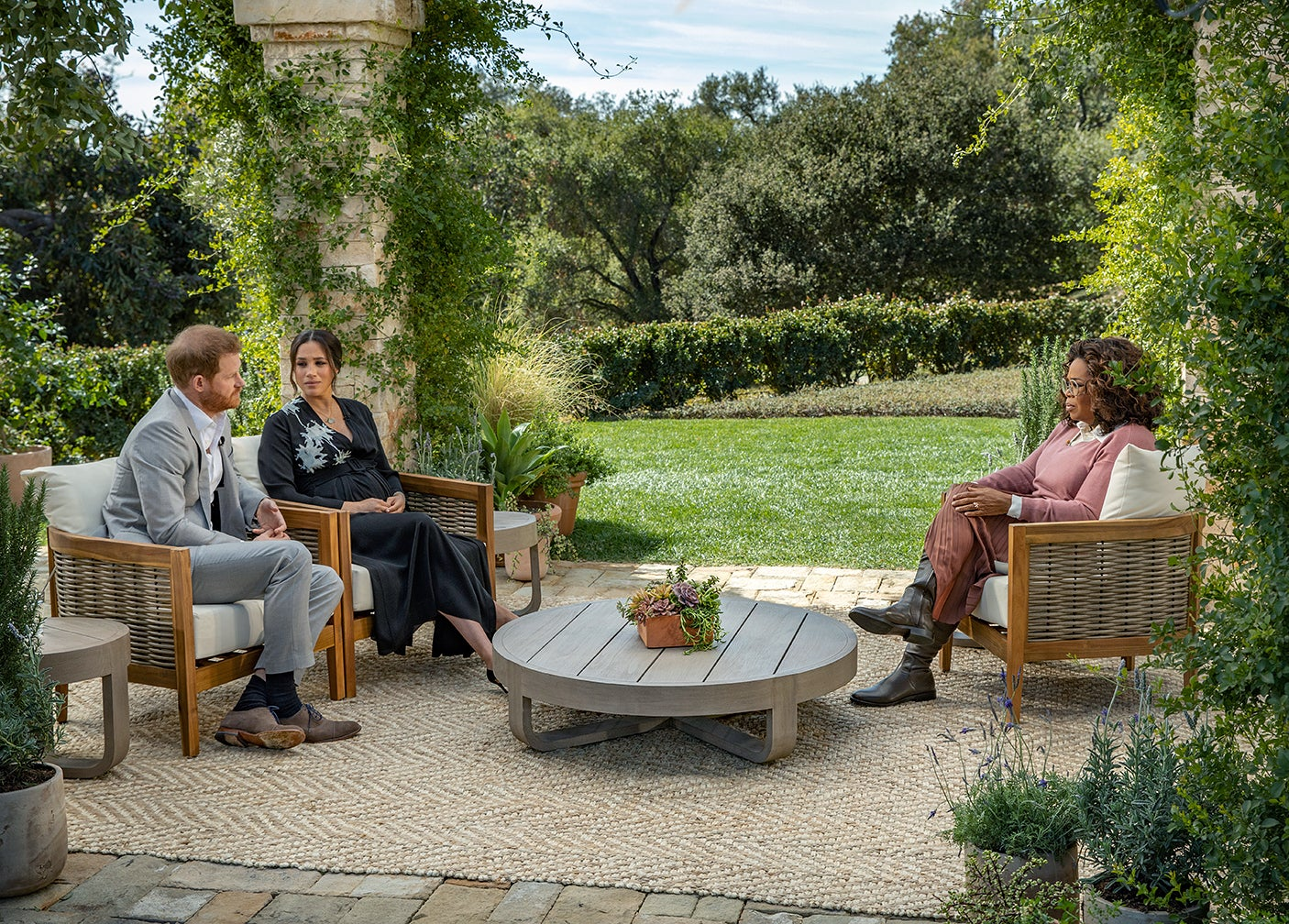 The Under-$400 Chairs Meghan and Oprah Sat in for Their Interview Are Already Sold Out