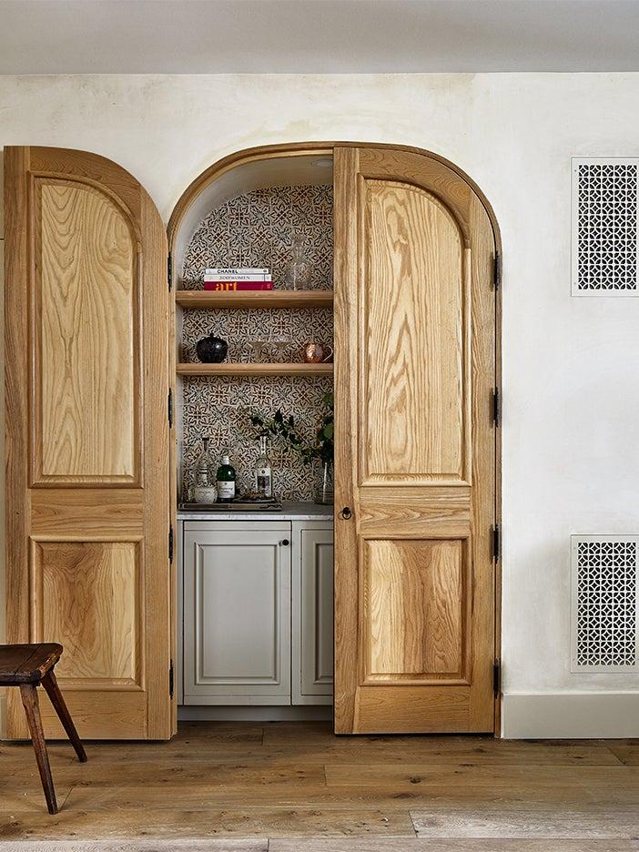 rustic bar cabinet