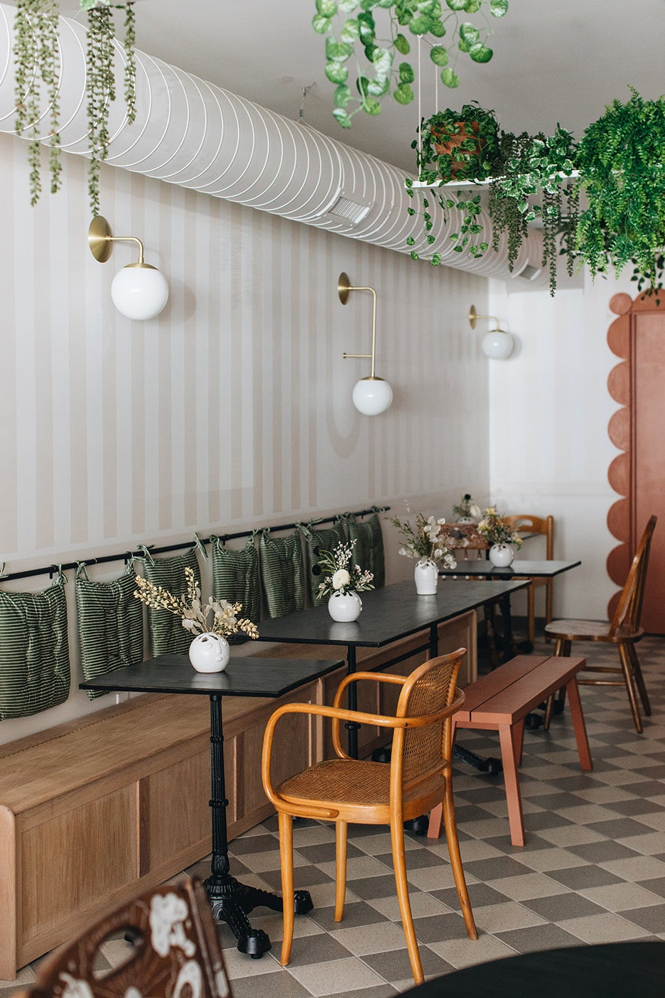 seating in a cafe dining room