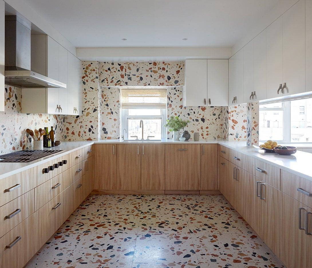 a terrazzo kitchen