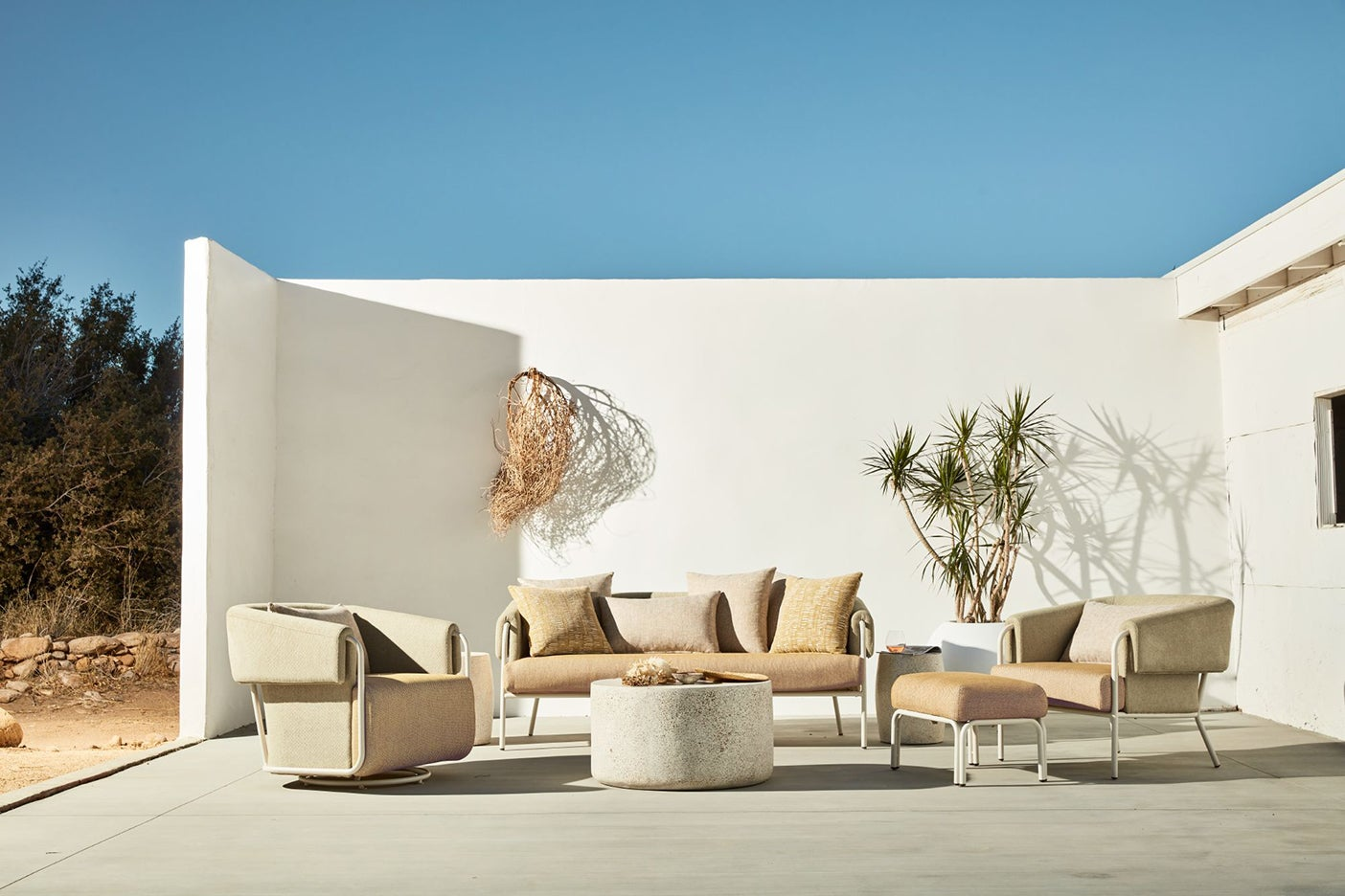 tan outdoor furniture