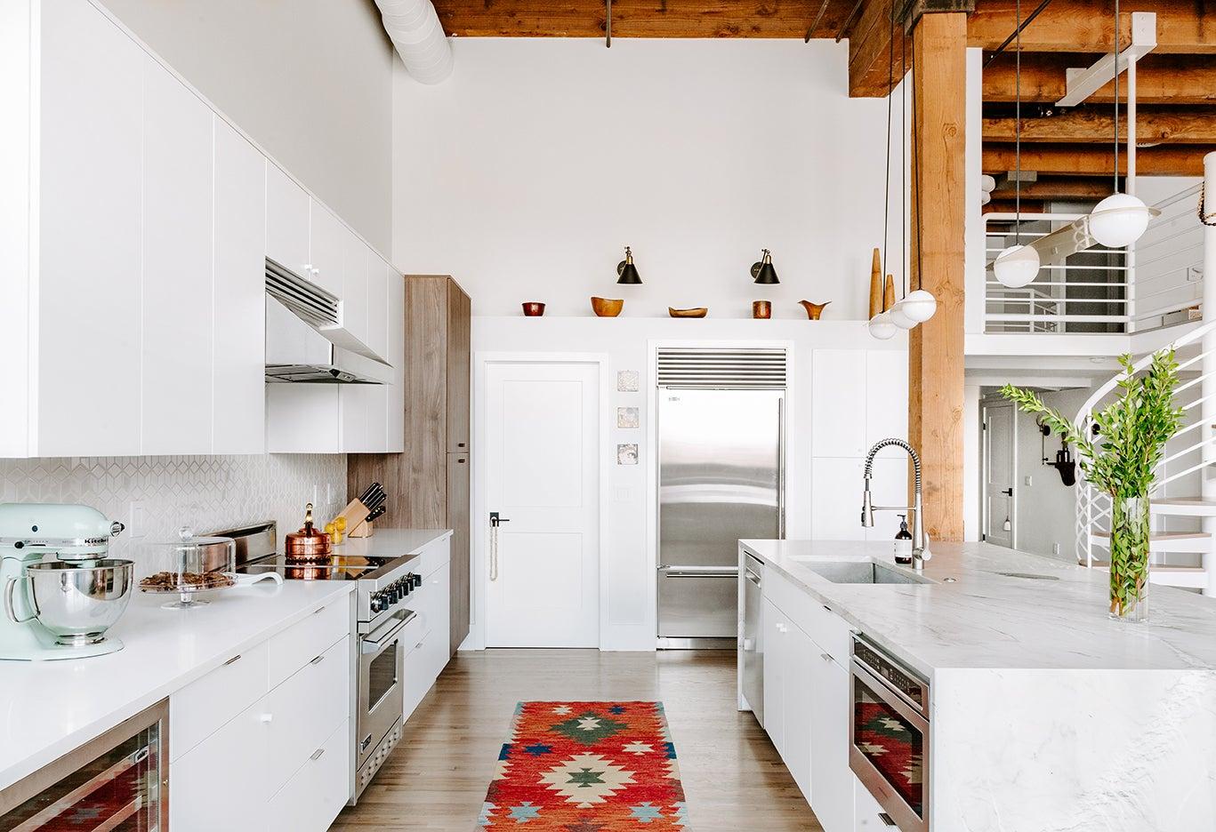 white loft kitchen