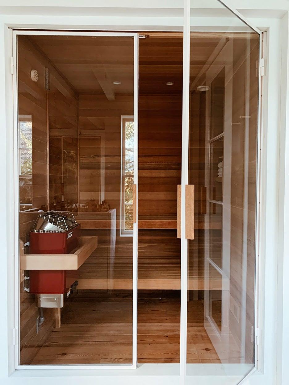 wood cedar sauna