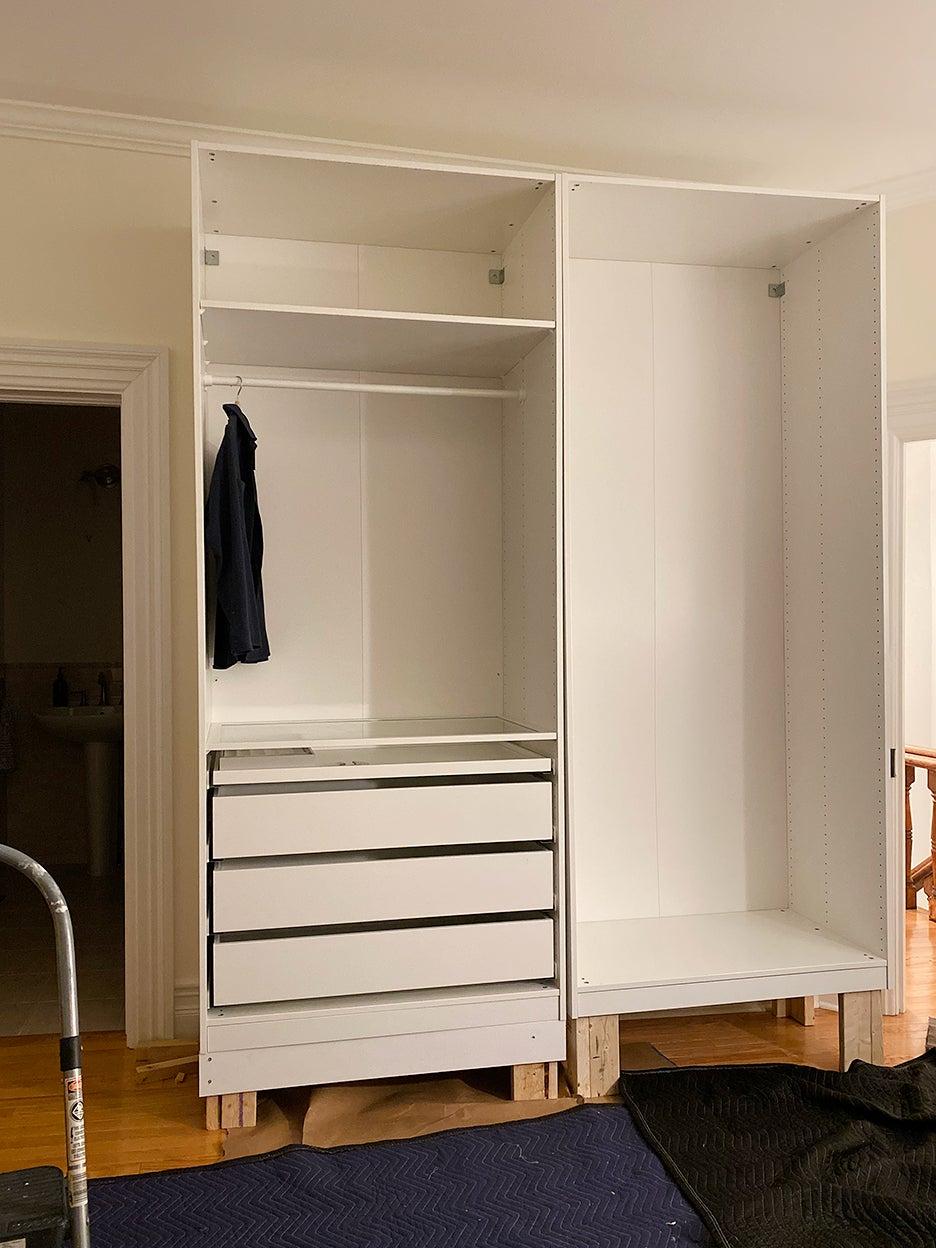 closet frames with no doors