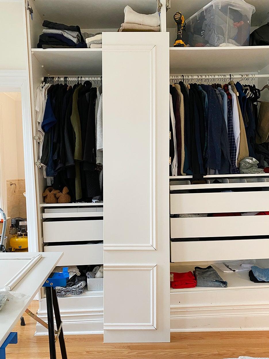 trim on a closet door