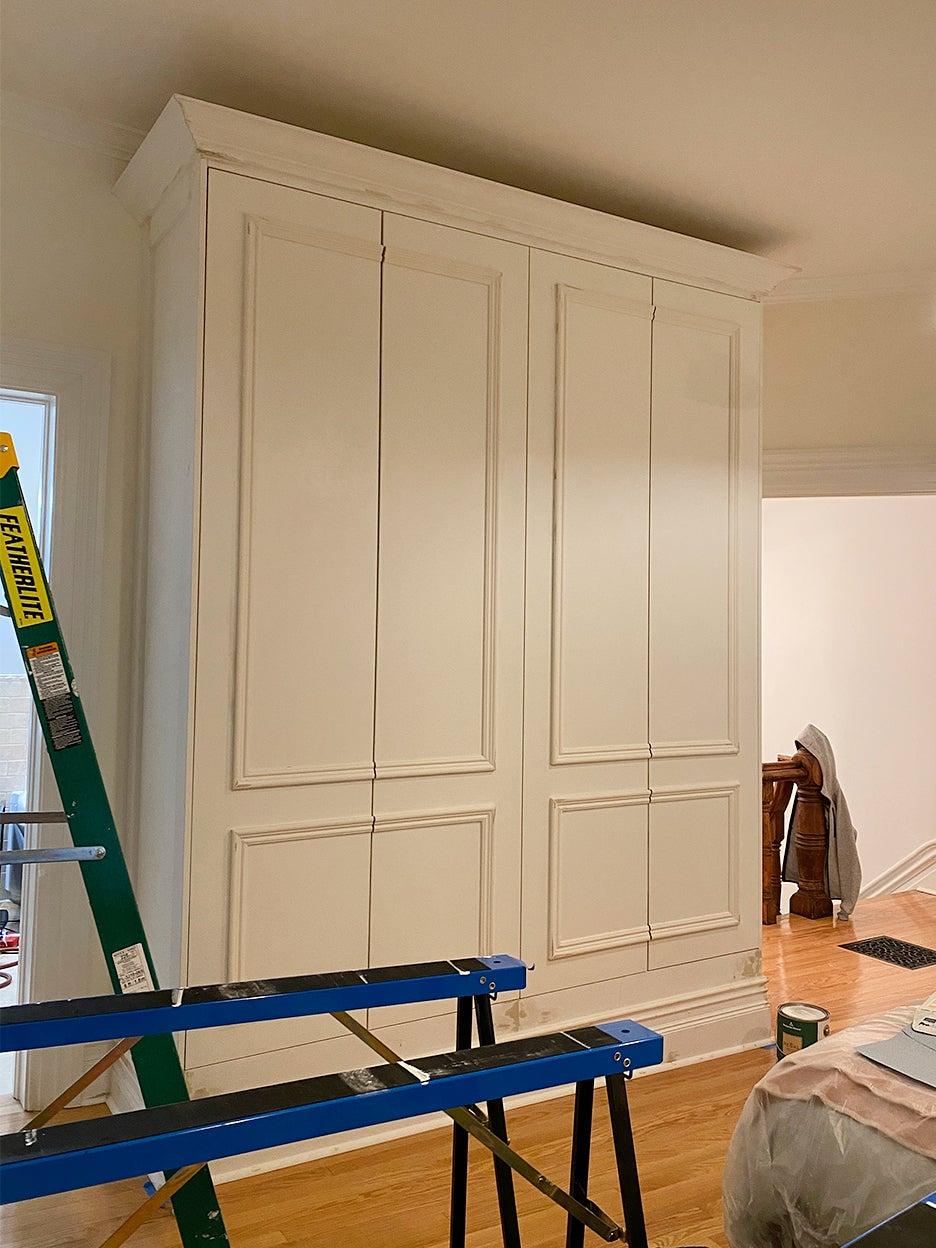 closet partially installed