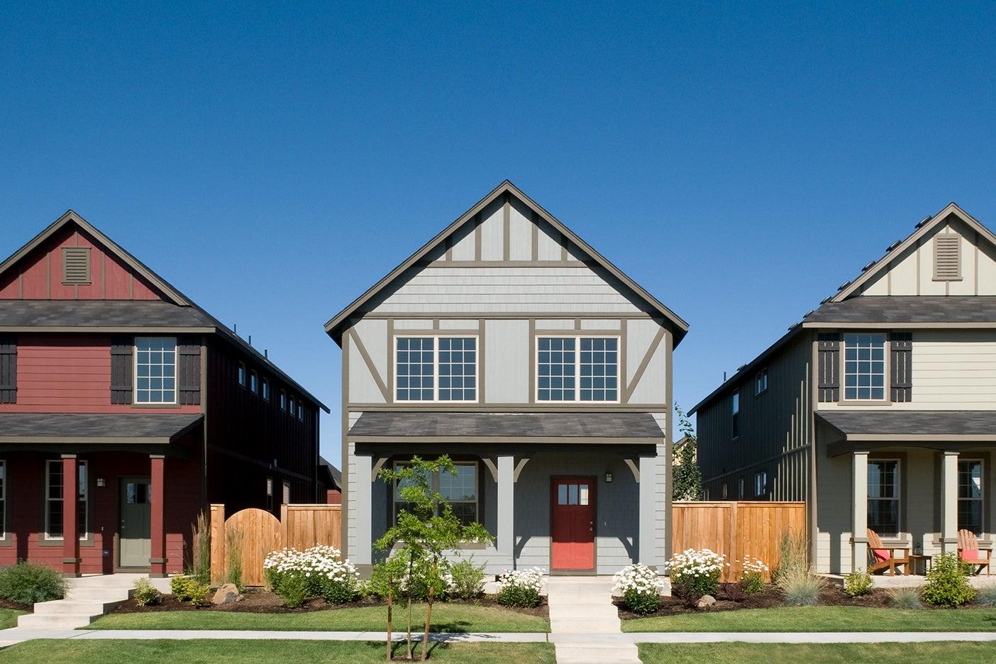 a few houses