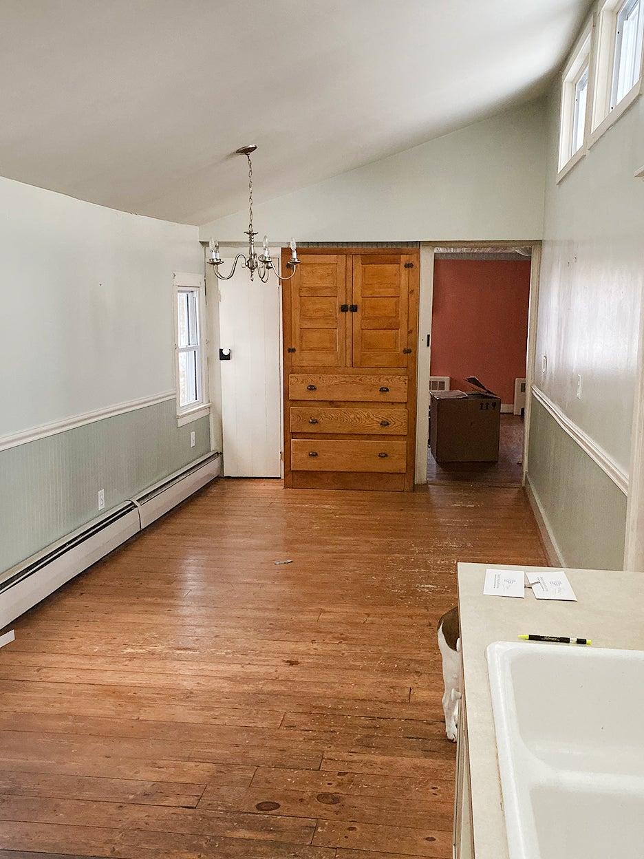 empty wood kitchen