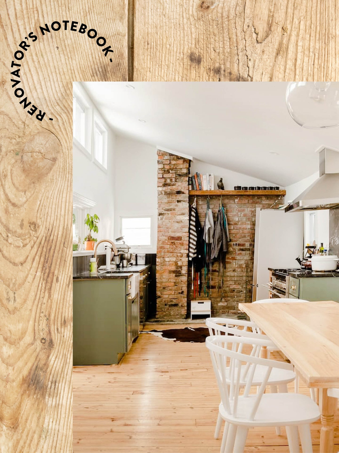 rustic farmohouse kitchen on wood backdrop