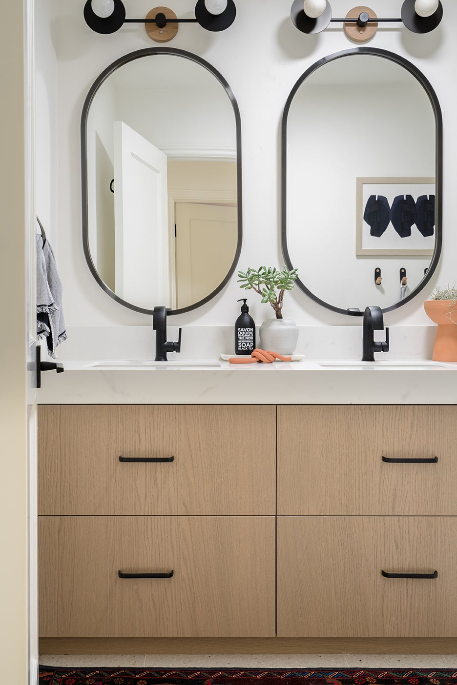 modern wood vanity