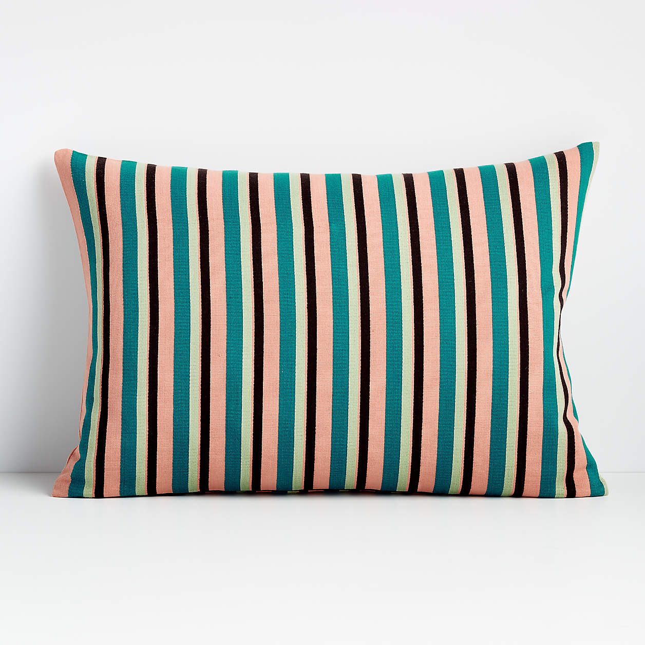 moreau-teal-22×15-striped-pillow-with-feather-down-insert
