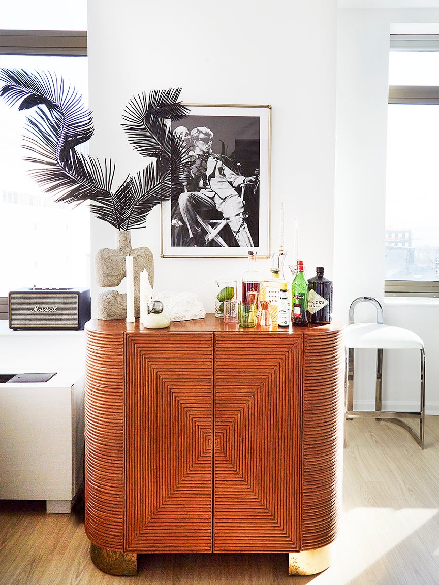 wood bar cabinet