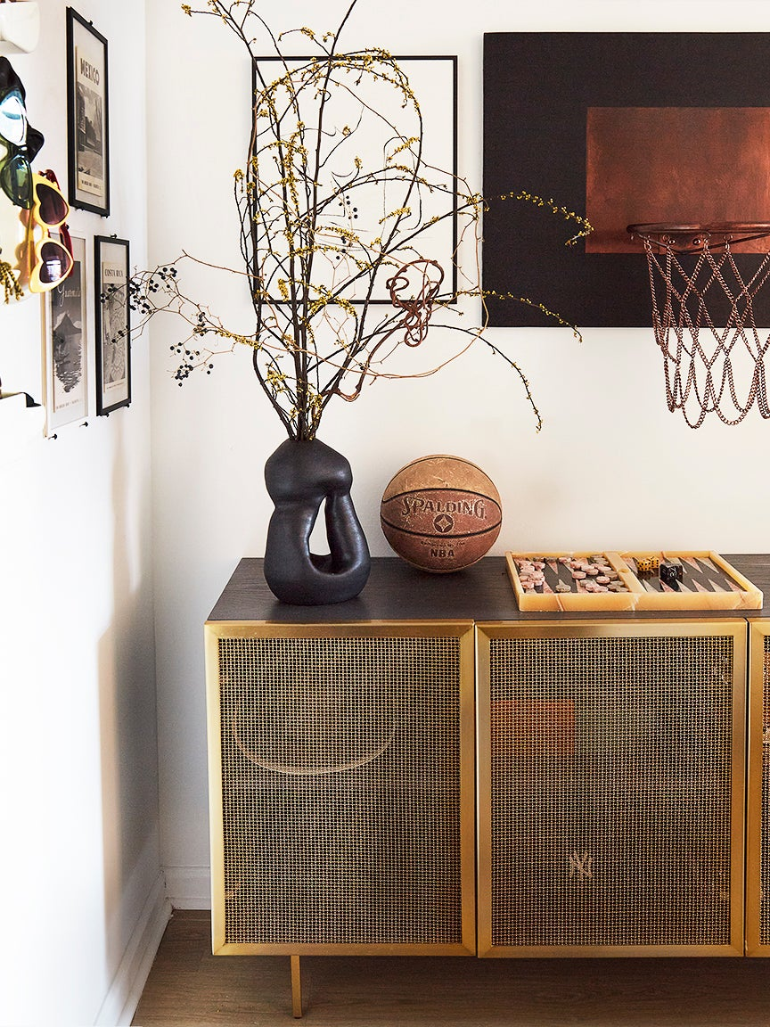 mesh wire entryway cabinet