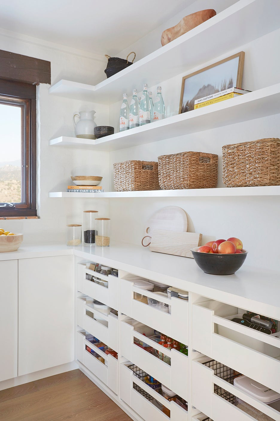 open pantry drawers