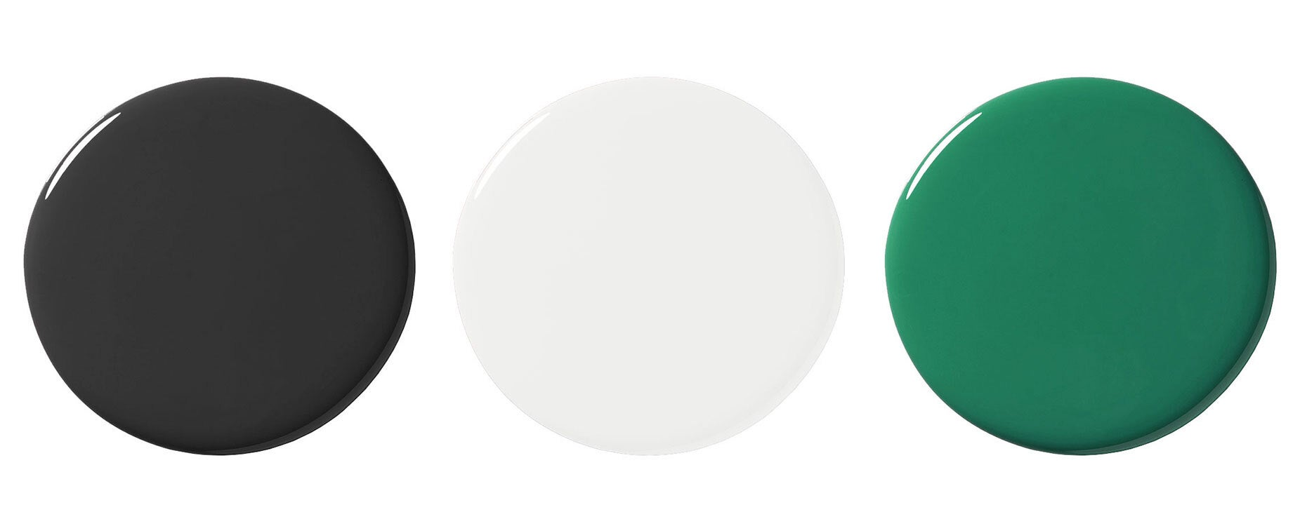 three paint blobs