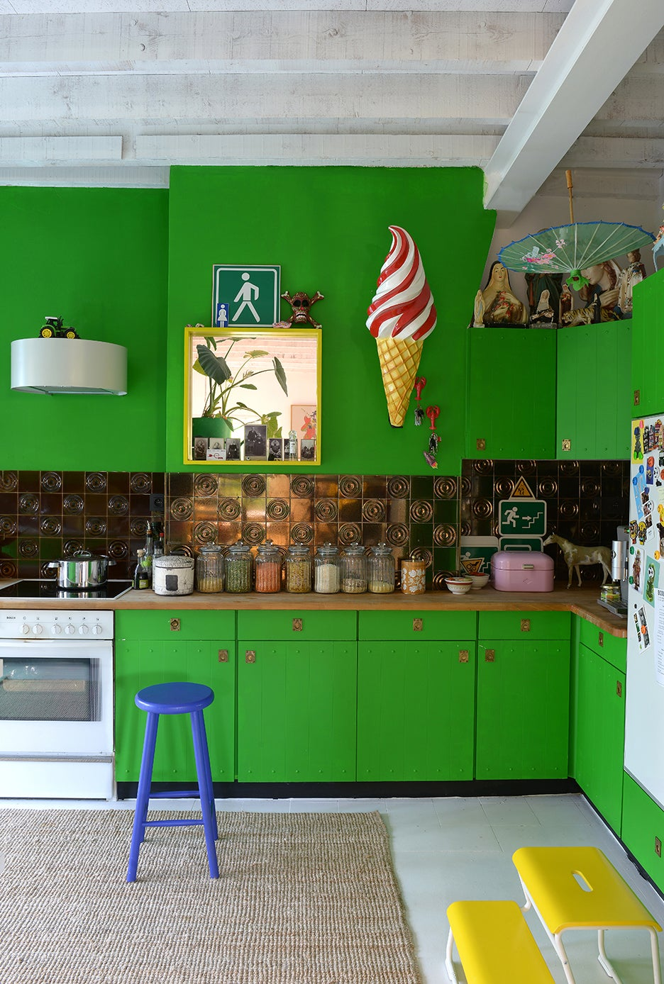 This Couple Painted Everything in Their Brussels Home—Except the Walls