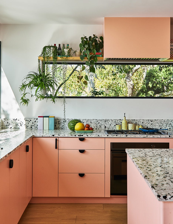 peach cabinets