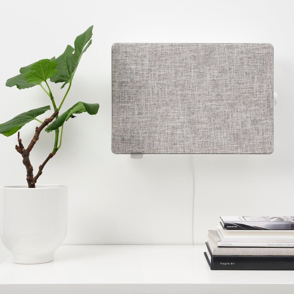gray fabric box on wall