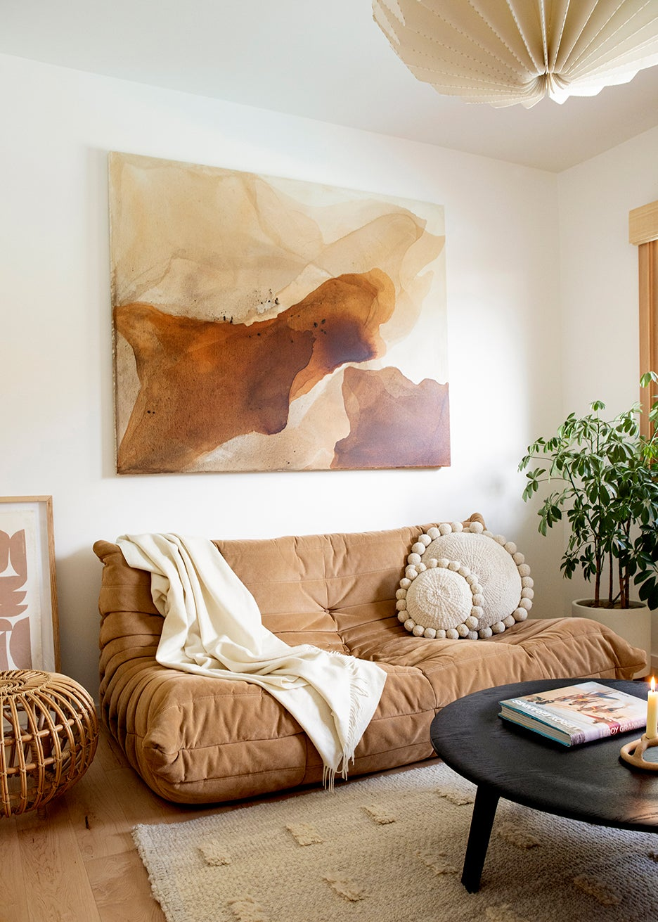 brown togo sofa