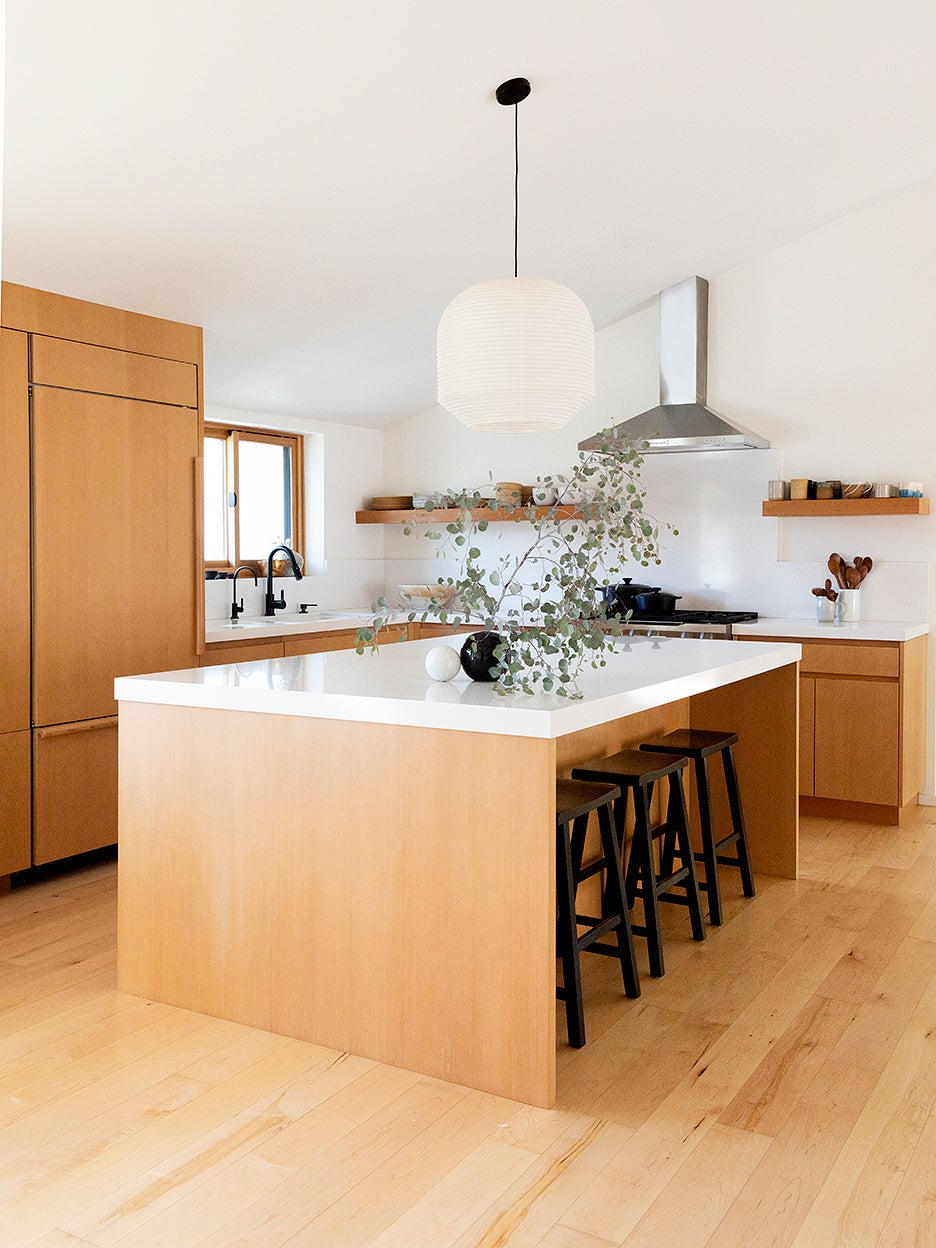wood kitchen island