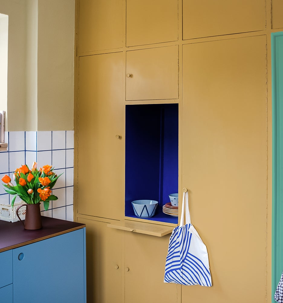 an alcove in the kitchen