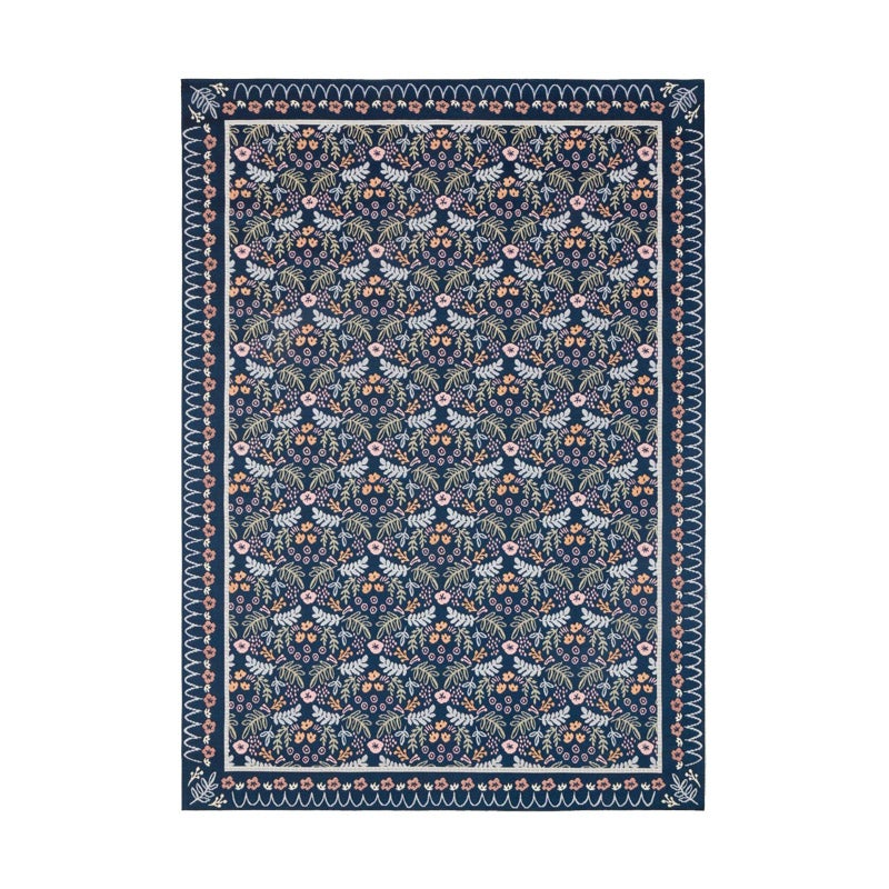 Best Outdoor Rug Option: Rifle Paper Co x Loloi AME-02 RP Trellis Navy Rug