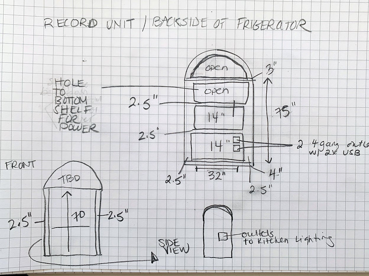 sketch of cabinet