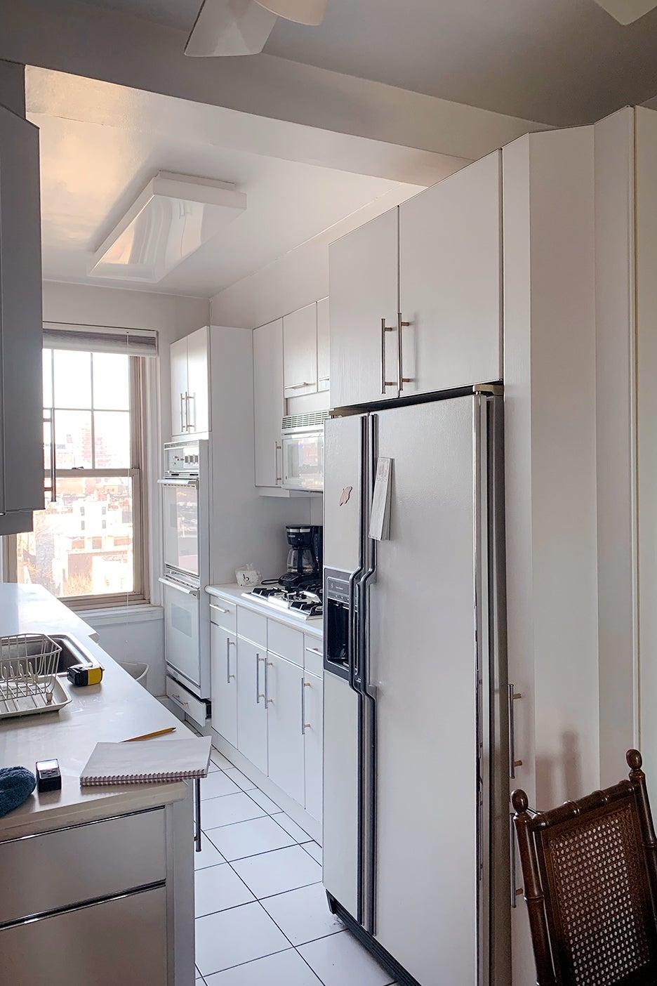 dated white kitchen
