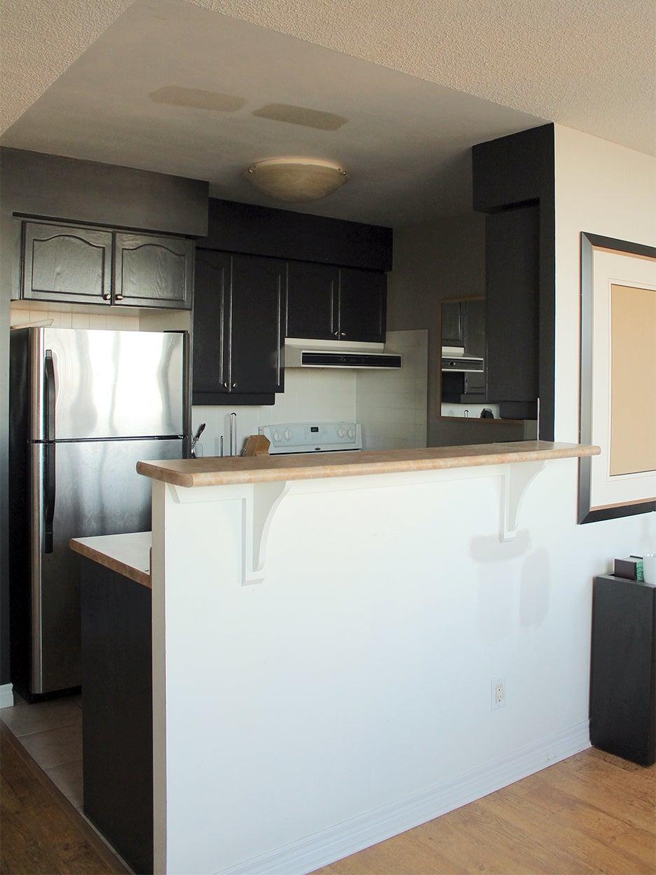 high kitchen counter