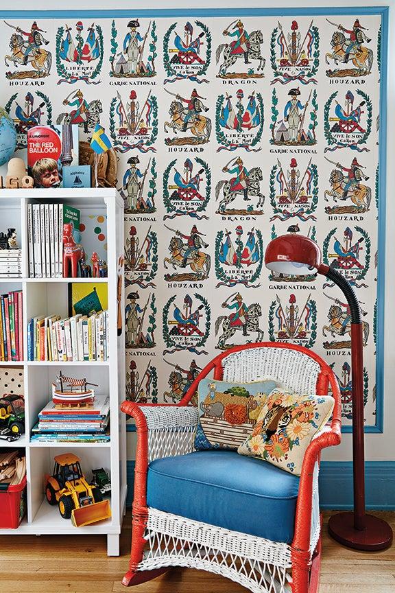 vintage rocking chair in nursery