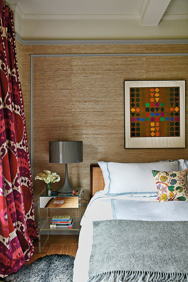 colorful bedroom corner