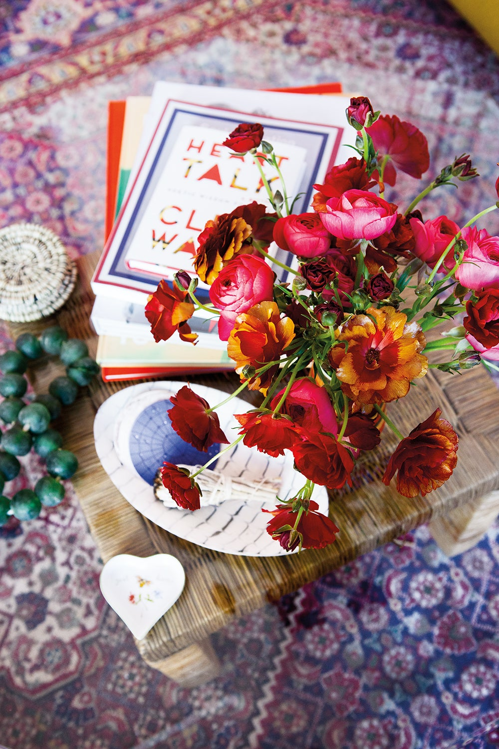colorful plants on table