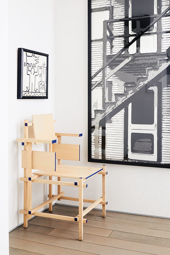 chair in entryway