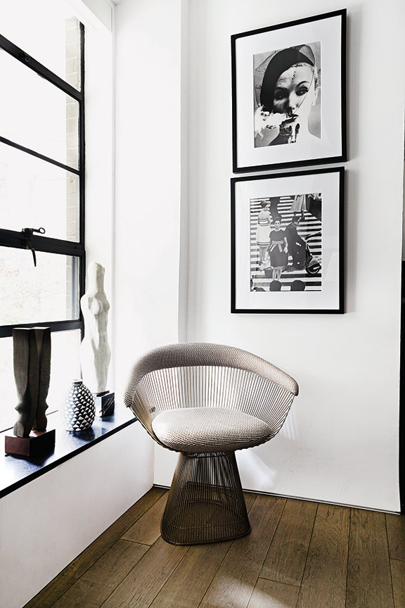 chair in corner with light