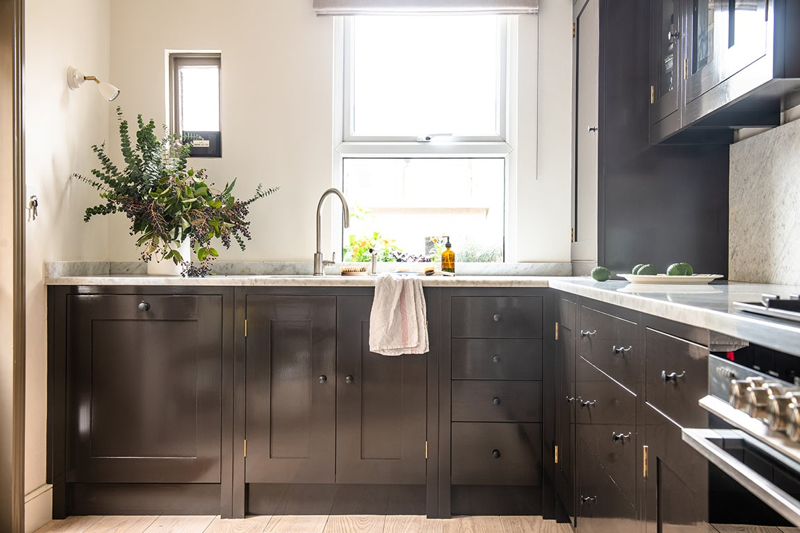 Painted Brown Kitchen Cabinets Are, Paint Kitchen Cabinets Dark