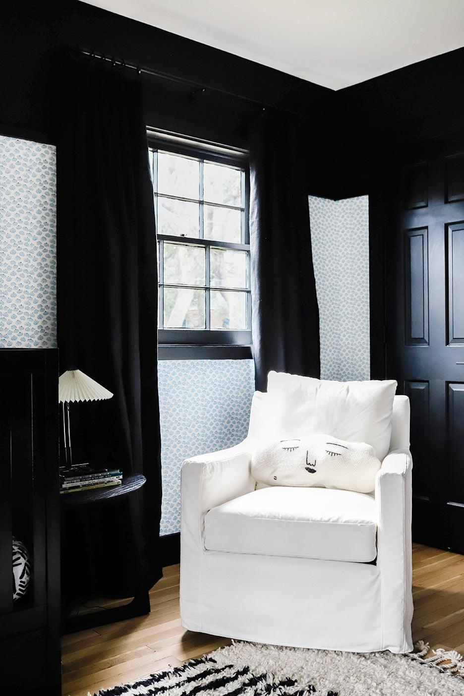 white glider chair